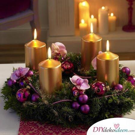 Adventskranz basteln - Adventskranz selbermachen