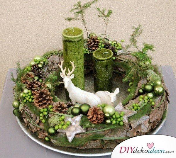 Adventskranz basteln - Weihnachten Bastelideen