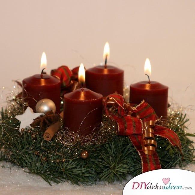Adventskranz basteln - Weihnachten basteln
