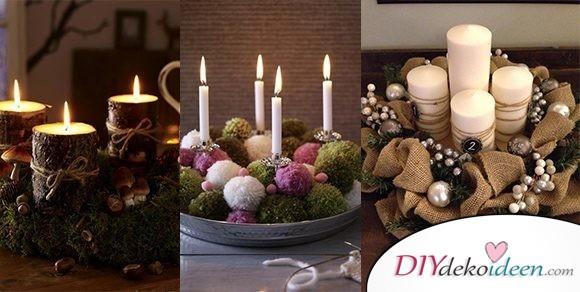 Adventskranz basteln – Die schönsten DIY Bastelideen zur Adventszeit