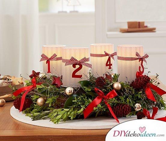 Adventskranz basteln - Weihnachten Bastelidee