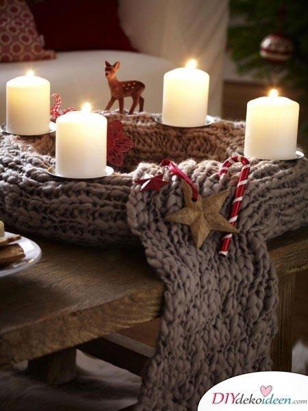 Adventskranz basteln - Weihnachten Deko selber machen