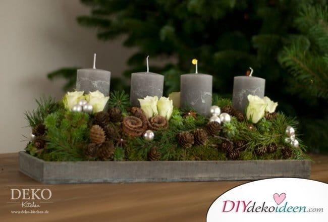 Adventskranz basteln - Weihnachtsdeko selber basteln