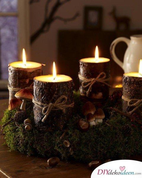 Adventskranz basteln - Weihnachten Dekoration selber basteln