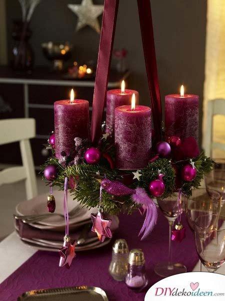 Adventskranz basteln - Weihnachtsdekoration basteln
