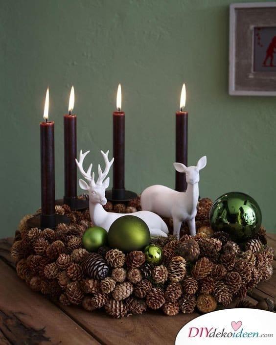 Adventskranz basteln - Adventszeit Bastelideen