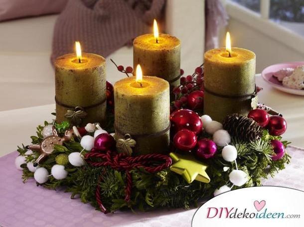 Adventskranz selber machen - 10+ Ideen - Weihnachten Bastelideen