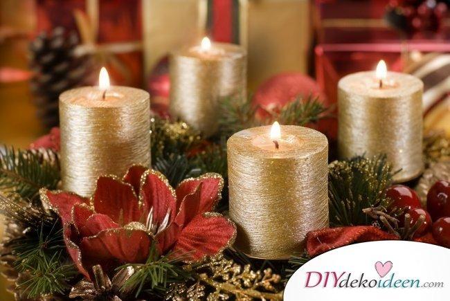 Adventskranz selber machen - 10+ Ideen - Weihnachtsdeko basteln