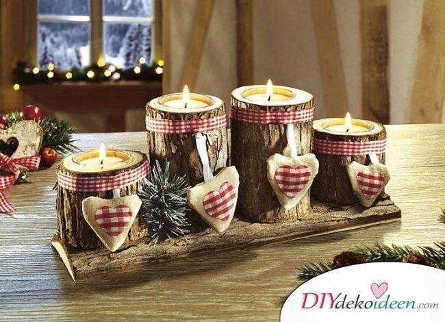 Adventskranz selber machen - 10+ Ideen - Weihnachtsdeko Bastelidee