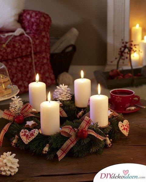 Adventskranz selber machen - 10+ Ideen - Adventszeit