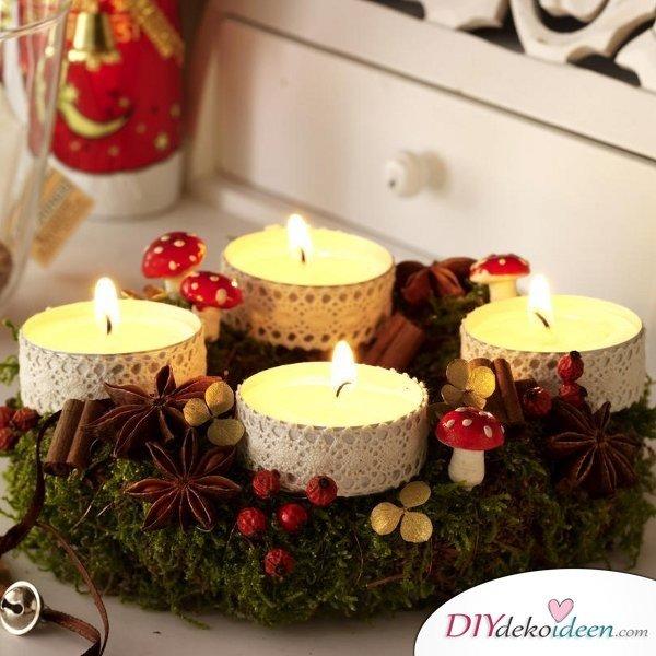 adventskranz selber machen elegante klassische und romantische ideen. Black Bedroom Furniture Sets. Home Design Ideas