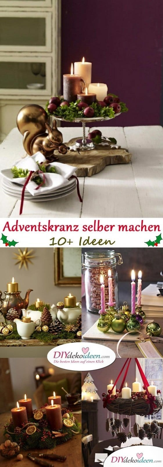 adventskranz selber machen elegante klassische und romantische ideen. Black Bedroom Furniture Sets. Home Design Ideas