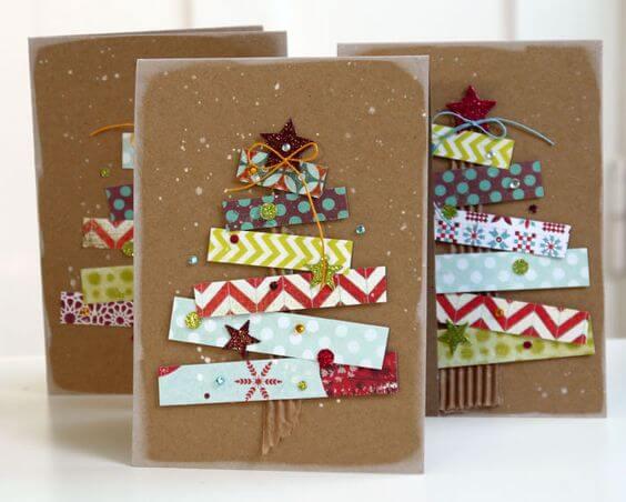 10+ super leichte Bastelideen für Weihnachten - Weihnachten basteln - Weihnachten Bastelideen- Weihnachtskarten selber machen Ideen