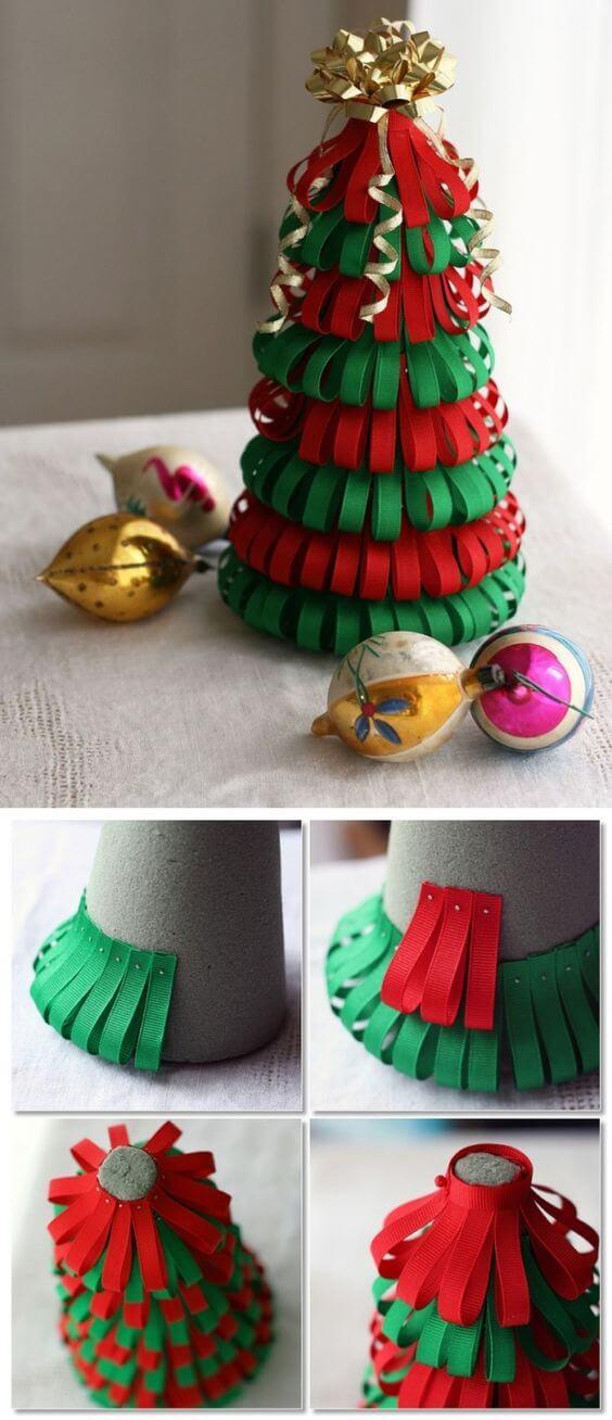 10+ super leichte Bastelideen für Weihnachten - Weihnachten basteln - Weihnachten Bastelideen- Weihnachtsbaum selber machen Ideen
