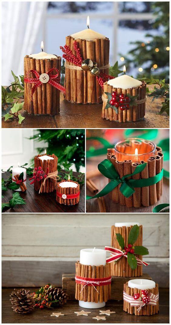 10+ super leichte Bastelideen für Weihnachten - Weihnachten basteln - Weihnachten Bastelideen- Weihnachtskerzen selber machen Ideen