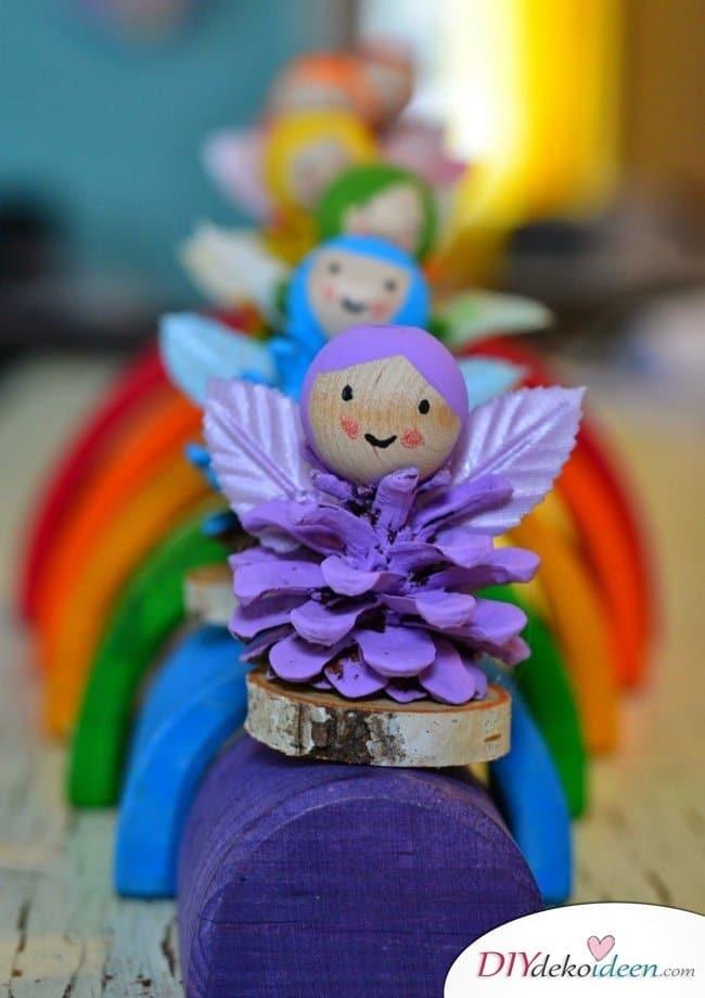 Basteln mit Tannenzapfen - 15 Ideen für Kinder - Basteln mit Kleinkindern