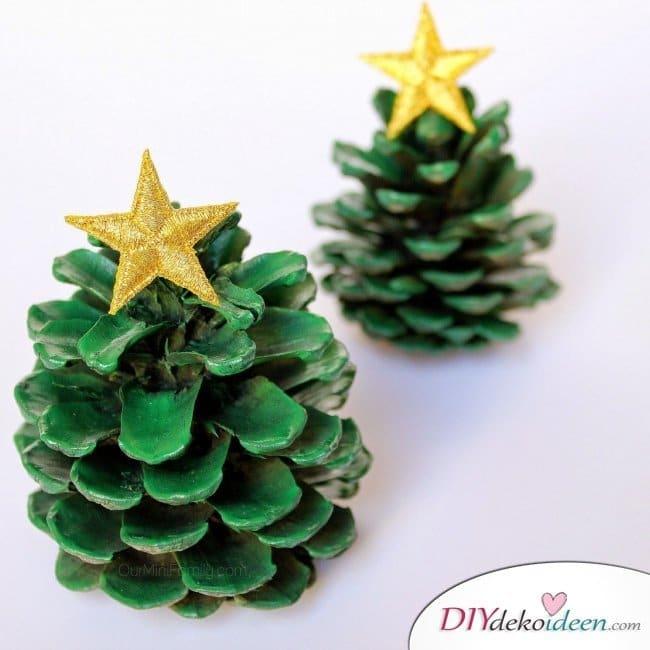 Basteln mit Tannenzapfen - 15 Ideen für Kinder - Bastelidee Weihnachten