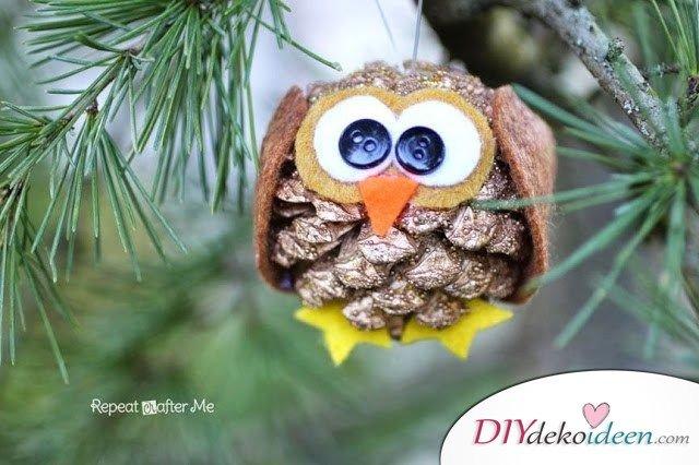 Basteln mit Tannenzapfen - 15 Ideen für Kinder - Bastelideen Weihnachten - mit Kindern basteln