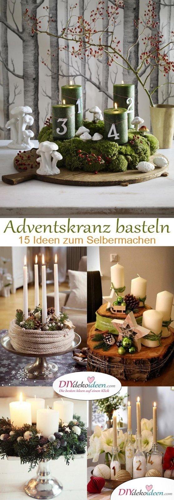 Bezaubernde DIY Bastelideen - Adventskranz basteln in der Vorweihnachtszeit