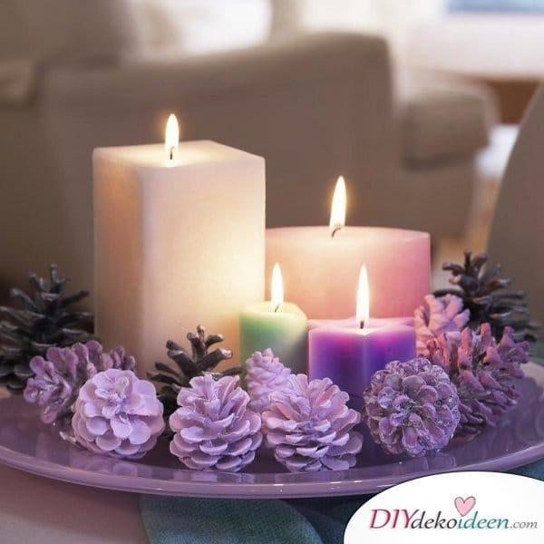 Adventskranz basteln - 15 Bastelideen - Weihnachten Tischdeko