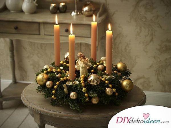 Adventskranz basteln - 15 Bastelideen - Weihnachten Adventskranz selbermachen