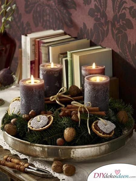 Adventskranz basteln - Weihnachten Bastelidee - 15 Ideen