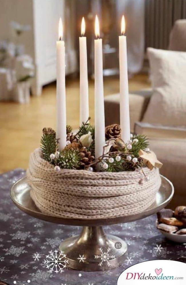 Adventskranz basteln - Weihnachten Bastelideen - 15 Ideen