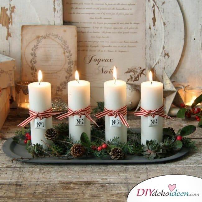 Adventskranz basteln - 15 Bastelideen - Weihnachten basteln