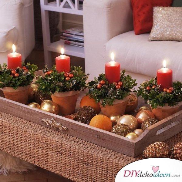 Adventskranz basteln - 15 Bastelideen - Weihnachtsdeko