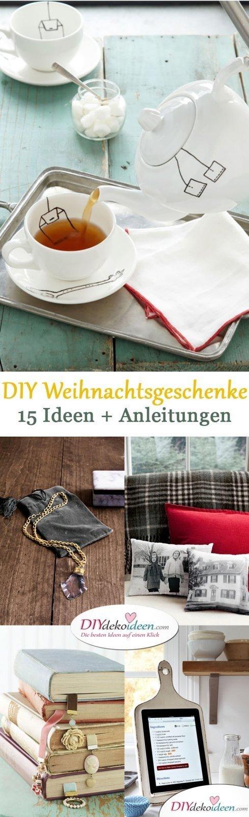 DIY Weihnachtsgeschenke - 15 Ideen und Anleitungen
