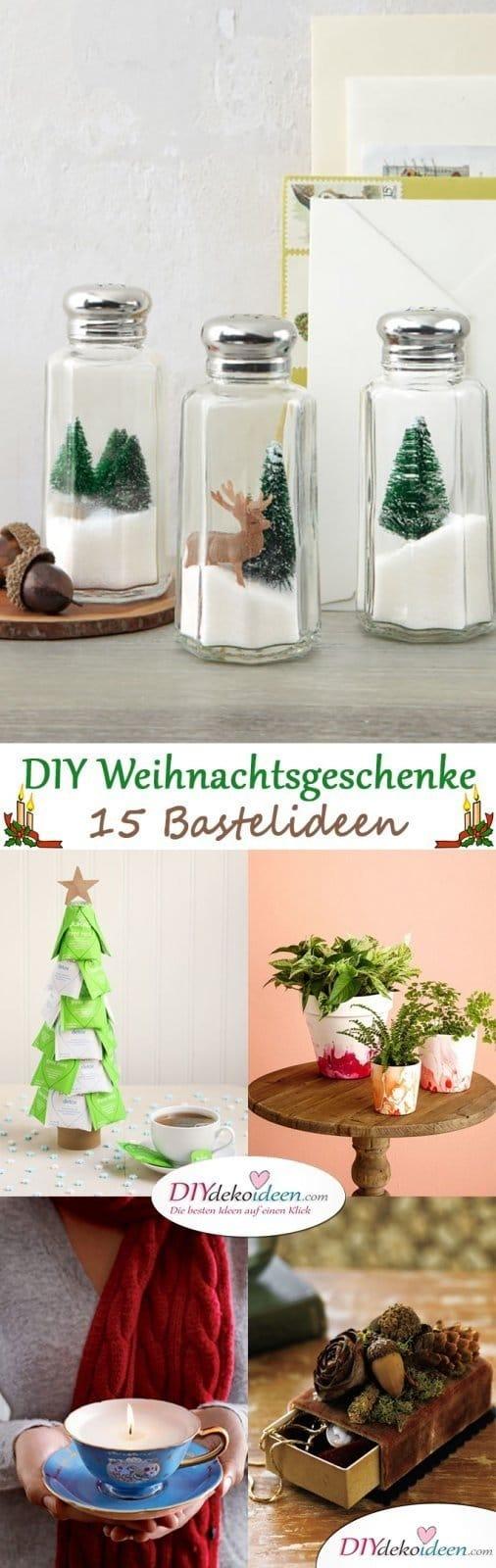 Persönliche DIY Weihnachtsgeschenke für deine Lieben - 15 DIY Bastelideen