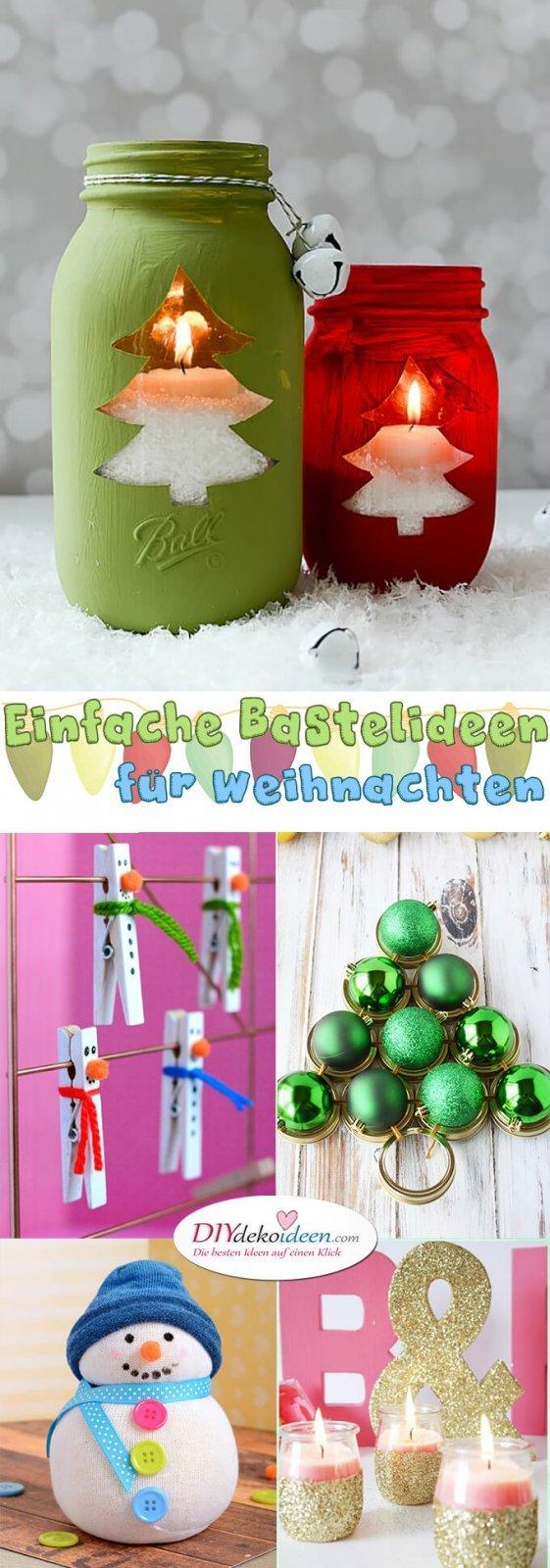 Einfache Bastelideen Für Weihnachten Die Freude Bringen