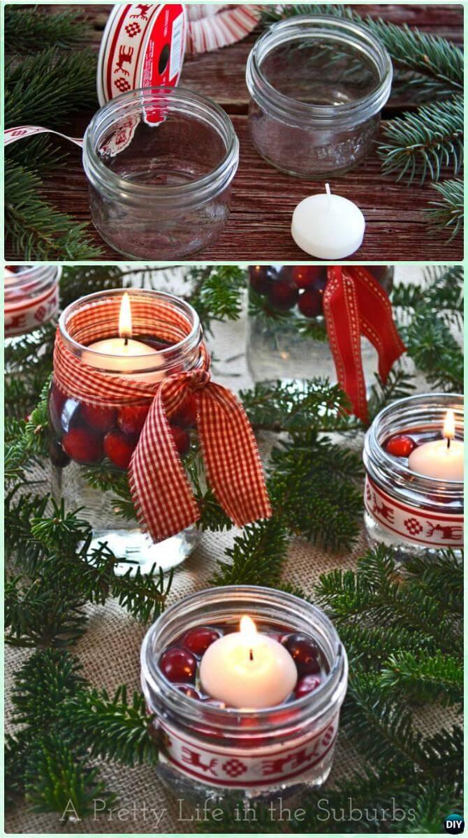 15 einfache Bastelideen für Weihnachten, die Freude bringen - Weihnachten 2017 - Weihnachtsdeko basteln - Weihnachtsbasteln - Weihnachtskranz basteln - Weihnachtsschmuck basteln - mit Einmachgläsern basteln - Deko Weihnachten