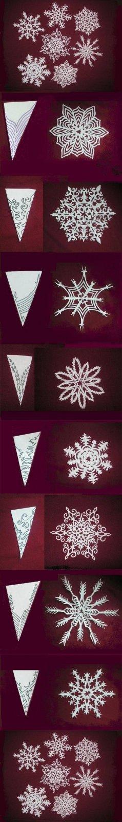 Weihnachtsschmuck basteln - Bastelideen für Weihnachten - Weihnachtsbasteln - Dekoideen Weihnachten - Weihnachtsdeko selber machen - Weihnachts Deko basteln - Schneeflocken basteln - Papier basteln