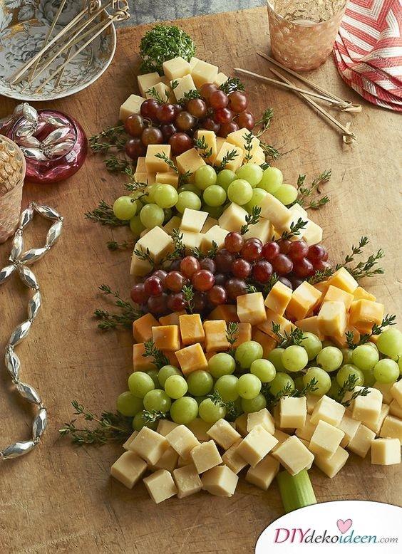 15 Tischdeko Ideen für Weihnachten - Weihnachten Tisch dekorieren Partyfood