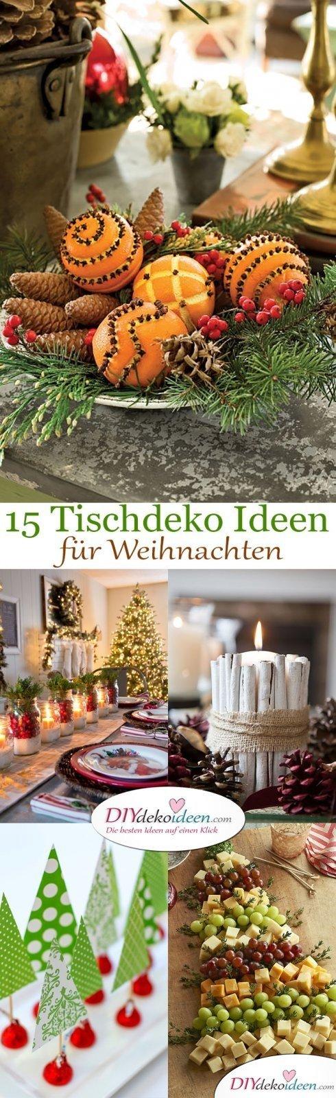 15 stimmungsvolle Tischdeko Ideen für Weihnacht