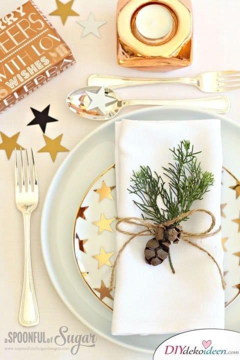 15 Tischdeko Ideen für Weihnachten - Weihnachtsdeko Ideen