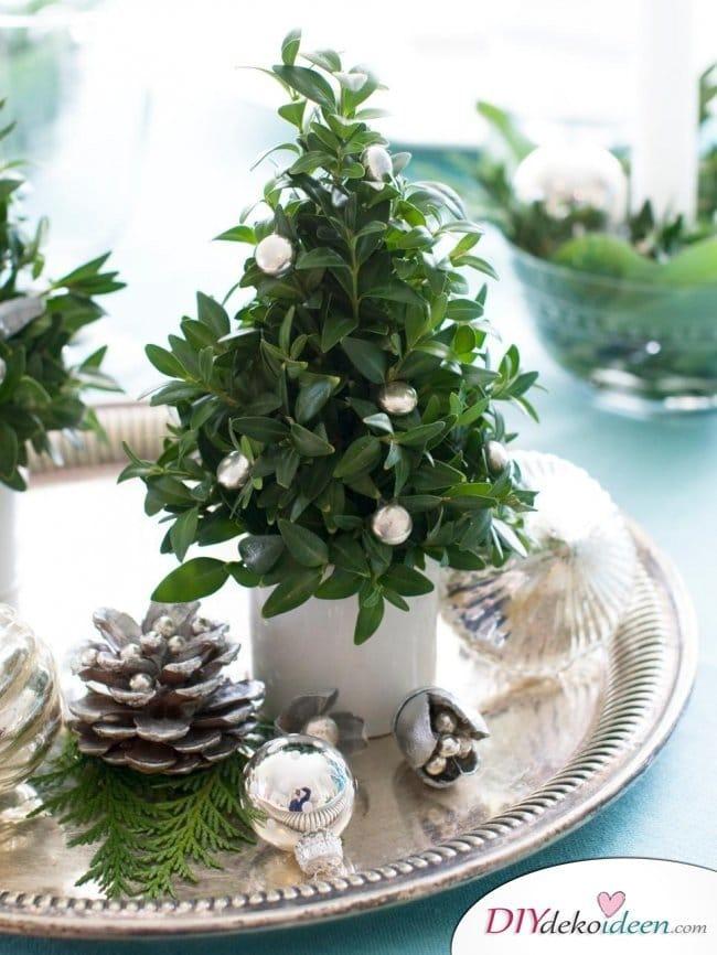 15 Tischdeko Ideen für Weihnachten - Tischdekoideen für Weihnachten - Weihnachten 2017 Tischschmuck