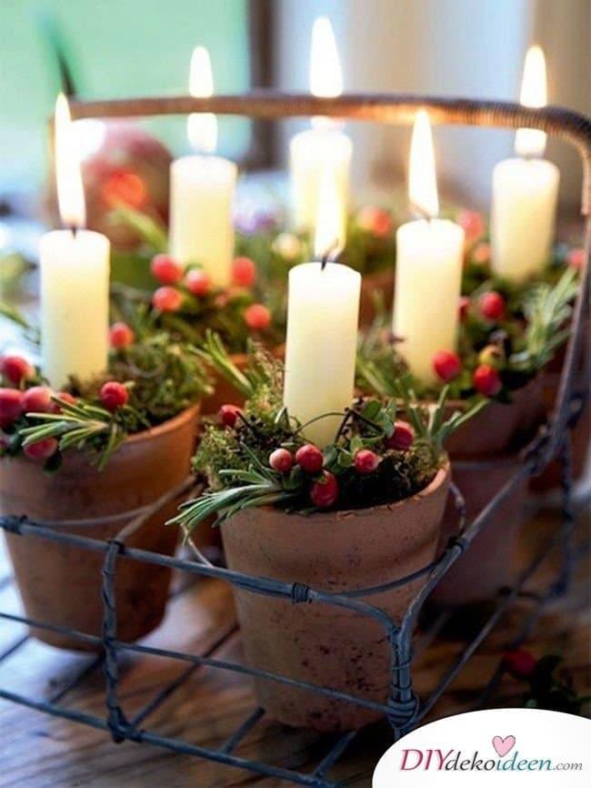 15 Tischdeko Ideen für Weihnachten - Tischdekoideen für Weihnachten - Weihnachten 2017 Tischschmuck basteln