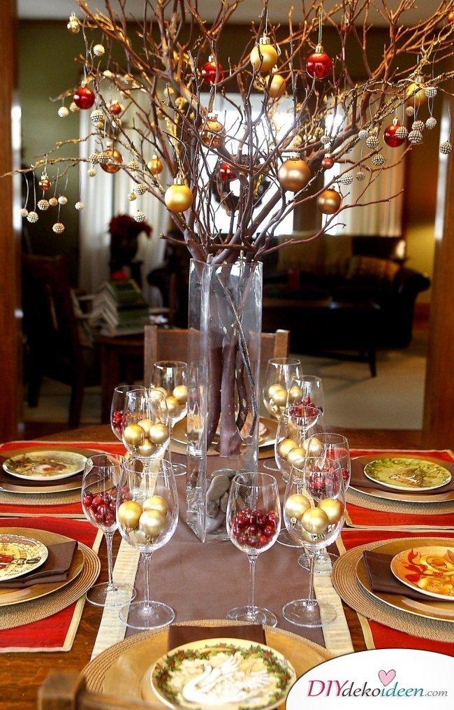 15 Tischdeko Ideen für Weihnachten - Weihnachtstischdeko Ideen