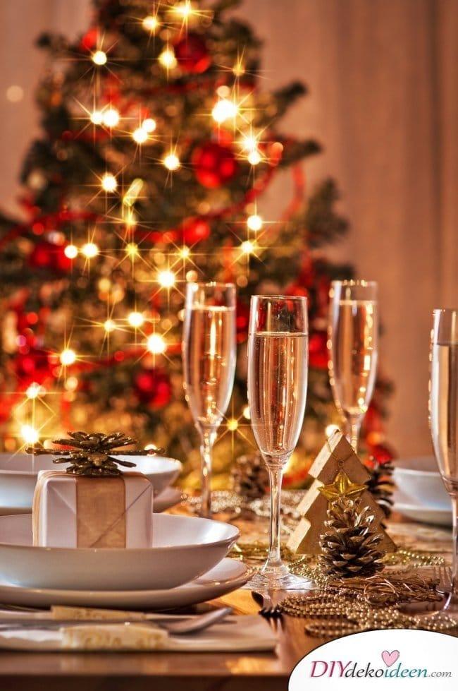 15 Tischdeko Ideen für Weihnachten - Weihnachten Tischdeko Idee