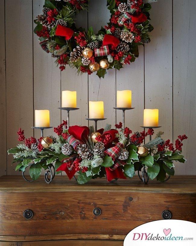 15 Tischdeko Ideen für Weihnachten - Tischdeko Idee für Weihnachten dekorieren