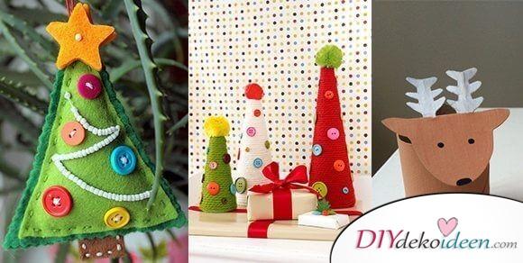 Zauberhafte Ideen fürs Weihnachtsbasteln mit Kindern, die Spaß machen
