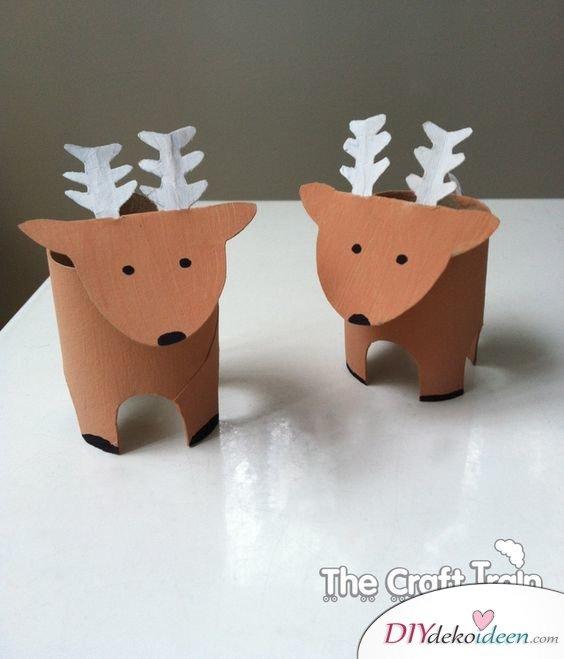 Weihnachtsbasteln mit Kindern - 15 Ideen - basteln mit Kindern - Weihnachten Bastelidee