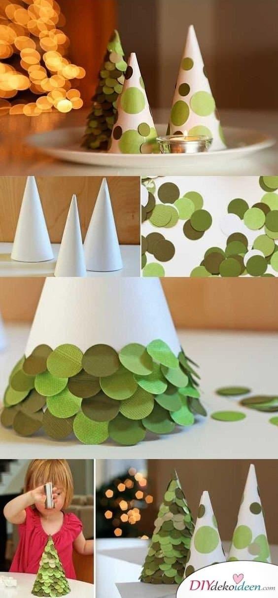 Weihnachtsbasteln mit Kindern - 15 Ideen - basteln mit Kindern - Weihnachten Bastelideen - basteln mit Papier