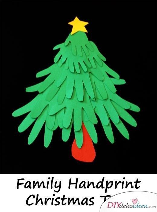 Weihnachtsbasteln mit Kindern - 15 Ideen - basteln mit Kindern - Weihnachten Bastelideen - Tannenbaum basteln
