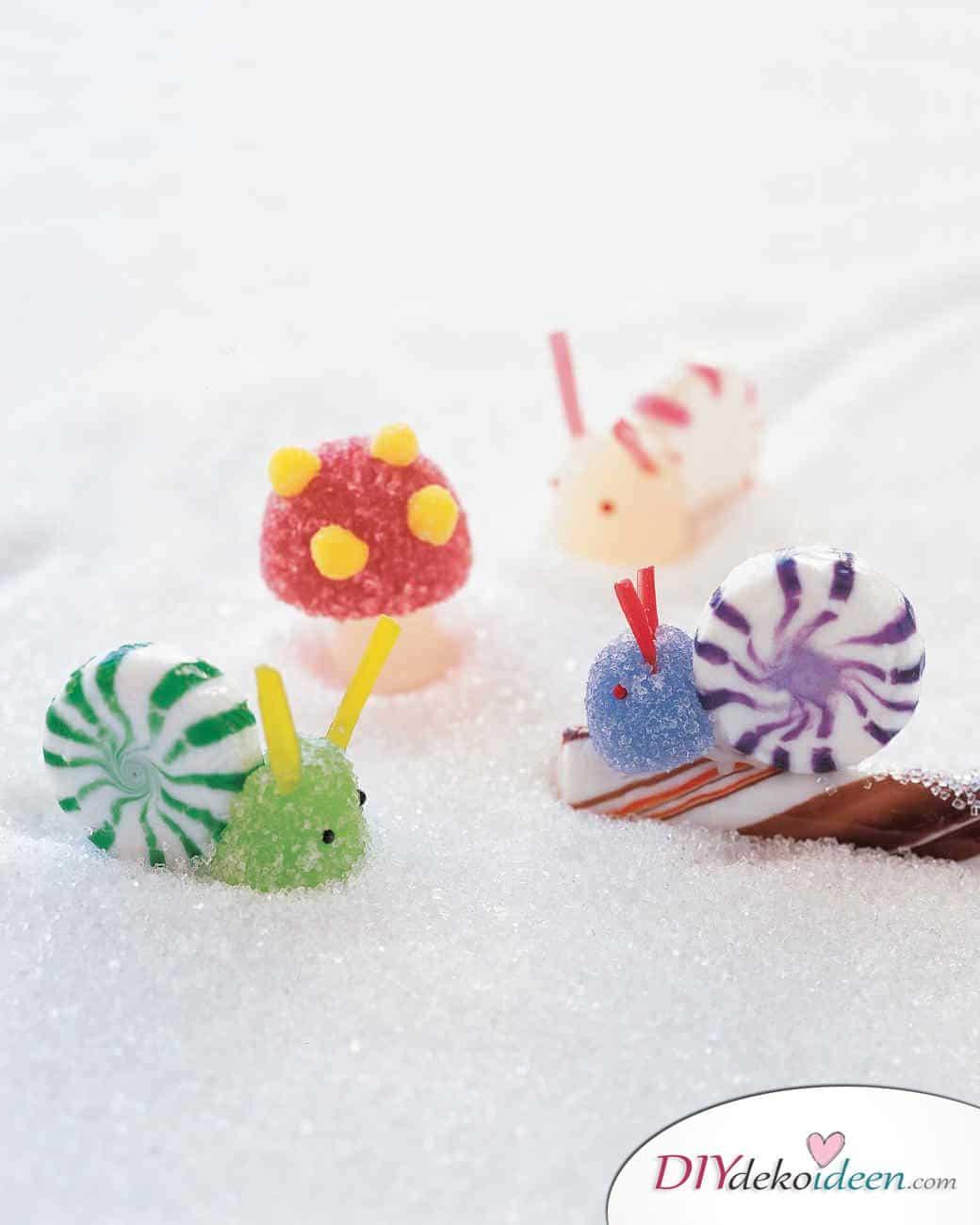 Weihnachtsbasteln mit Kindern - 15 Ideen - basteln mit Kindern - Weihnachten Bastelideen - basteln mit Bonbons