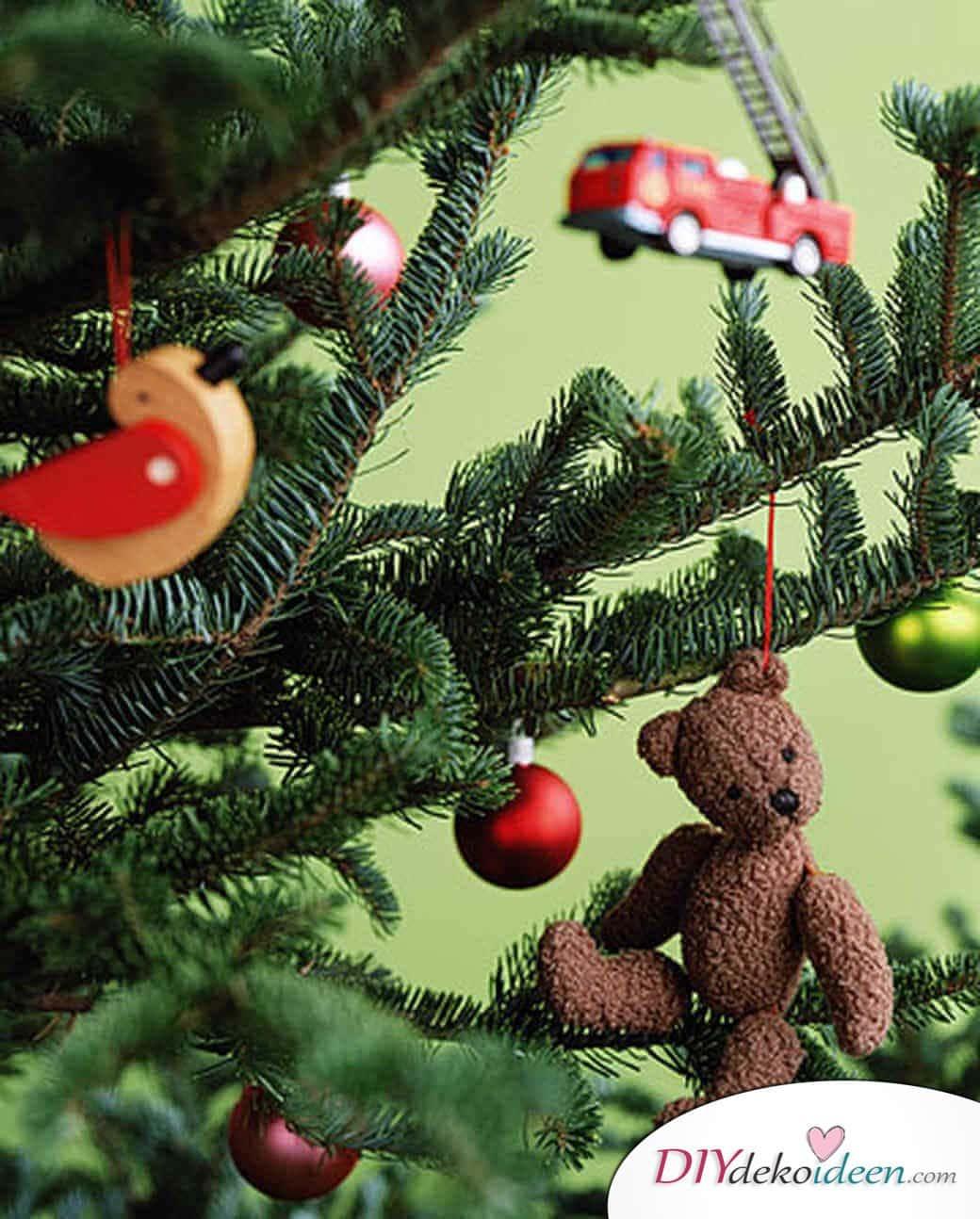 Weihnachtsbasteln mit Kindern - 15 Ideen - basteln mit Kindern - Weihnachten Bastelideen - Christbaumschmuck basteln