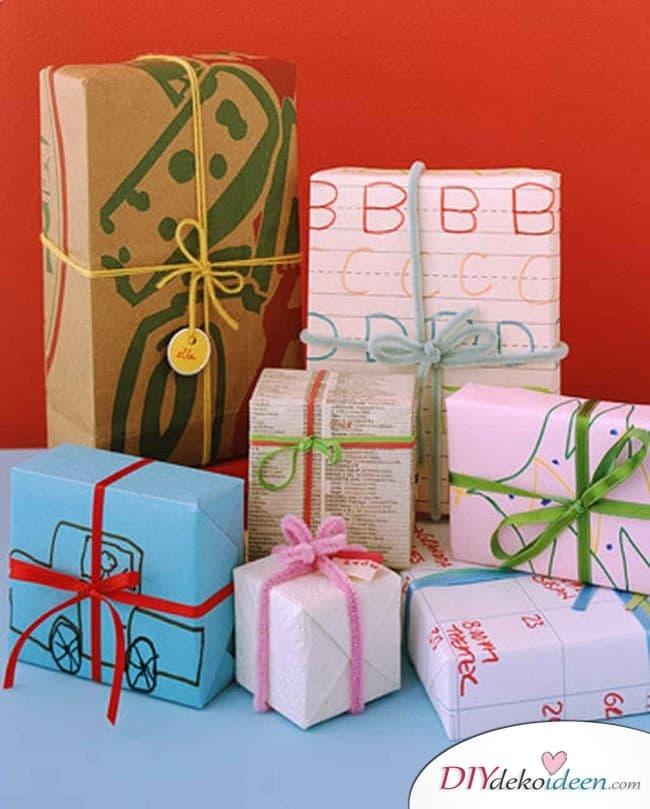Weihnachtsbasteln mit Kindern - 15 Ideen - basteln mit Kindern - Weihnachten basteln