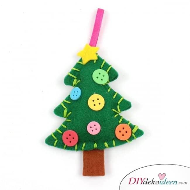 Weihnachtsbasteln mit Kindern - 15 Ideen - basteln mit Kindern - basteln mit Filz - Weihnachten Geschenkidee